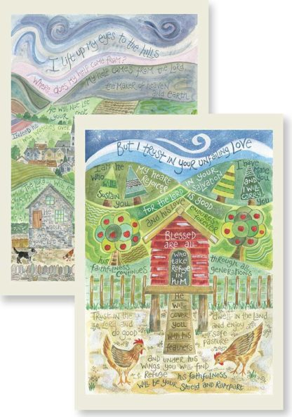 Hannah Dunnett Psalm 121 and Under His Wings Notecards