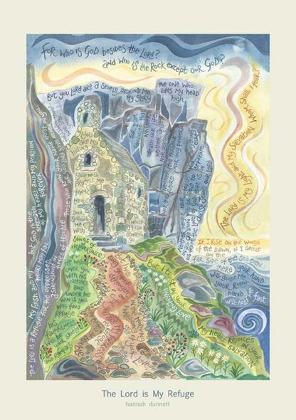 Hannah Dunnett The Lord is My Refuge greetings card