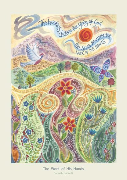 Hannah Dunnett The Work of His Hands greetings card
