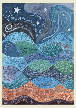 Hannah Dunnett Psalm 139 notebook design