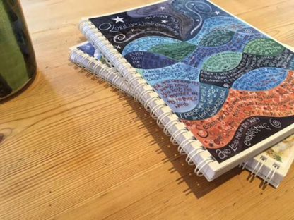 Hannah Dunnett Psalm 139 notebook ultra closeup image