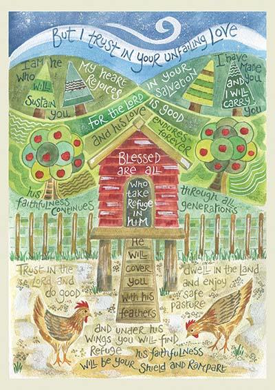 Hannah Dunnett Under His Wings notebook design