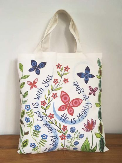 Hannah Dunnett The Lord is with you Canvas Bag back image
