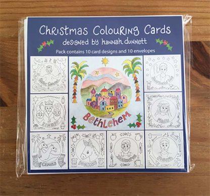 Hannah Dunnett Christmas Colouring Cards