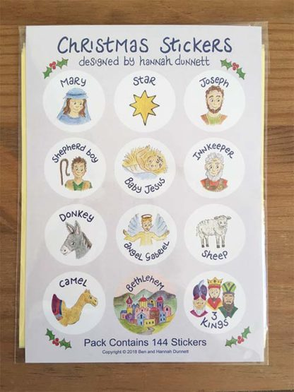 Hannah Dunnett Christmas Sticker Sheets
