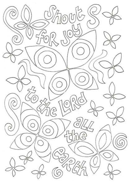 Hannah Dunnett Kids colouring book Shout for Joy image