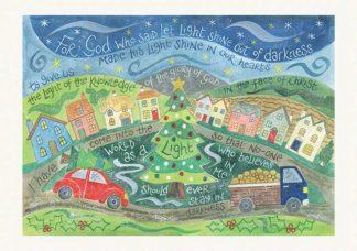 Hannah Dunnett Shine in Our Hearts A6 Christmas card