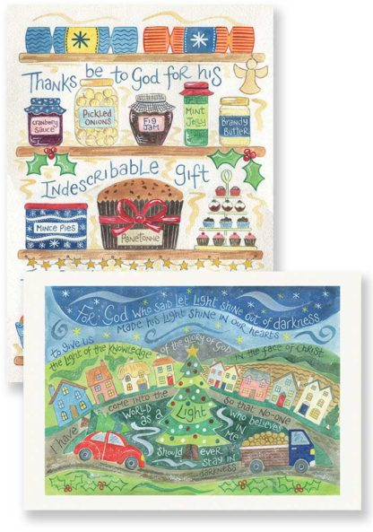 Hannah Dunnett Shine in Our Hearts and Indescribable Gift Christmas card pack