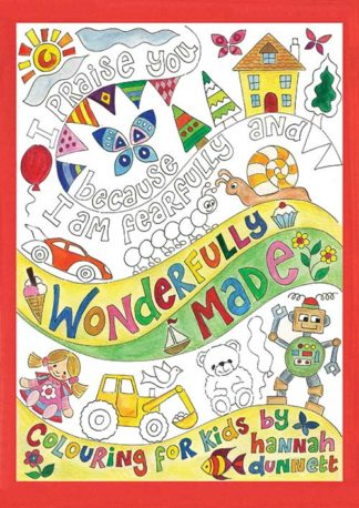 Hannah Dunnett Wonderfully Made Kids Colouring Book front cover