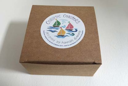 Hannah Dunnett boats coasters gift box image