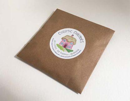 Hannah Dunnett houses coasters envelope