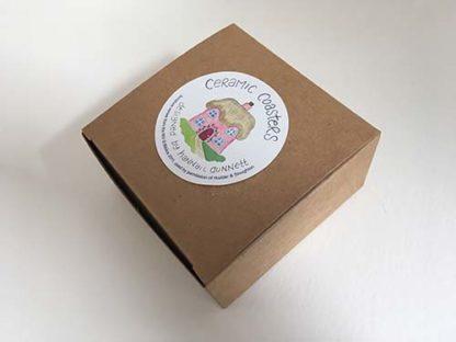 Hannah Dunnett houses coasters gift box image