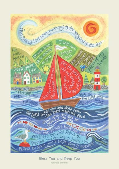 Hannah Dunnett Bless You and Keep You greetings card and poster