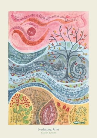 Hannah Dunnett Everlasting Arms greetings card and poster