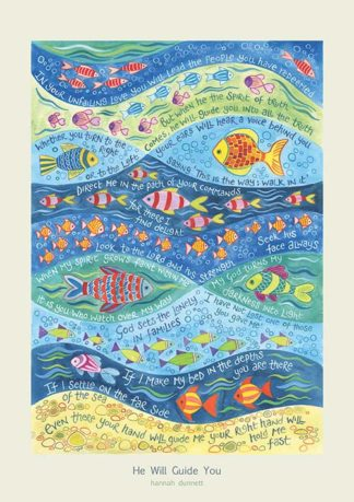 Hannah Dunnett He Will Guide You greetings card and poster
