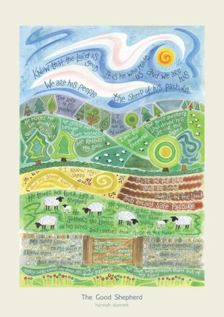 Hannah Dunnett The Good Shepherd greetings card and poster