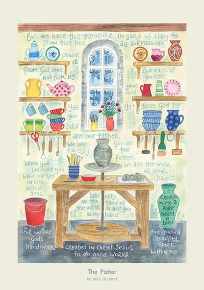 Hannah Dunnett The Potter greetings card and poster