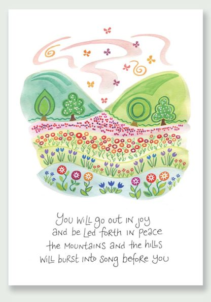 Hannah Dunnett Burst Into Song notecard and print