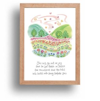Hannah Dunnett Burst Into Song print wood frame