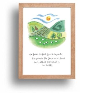 Hannah Dunnett Close To His Heart print wood frame