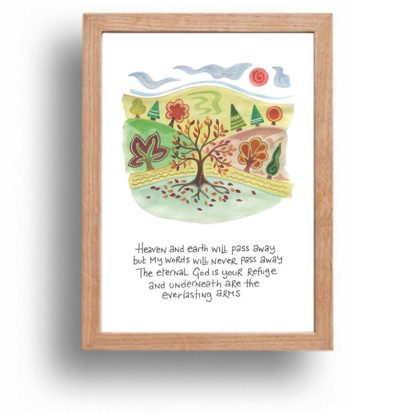 Hannah Dunnett Eternal God print wood frame