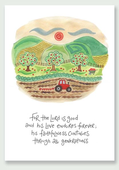 Hannah Dunnett His Faithfulness notecard and print