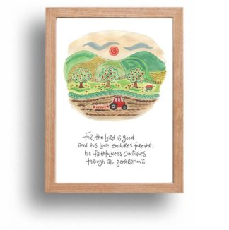 Hannah Dunnett His Faithfulness print wood frame