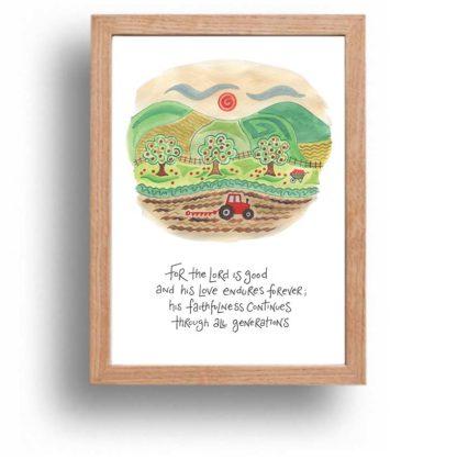 Hannah Dunnett His Faithfulness print wood frame