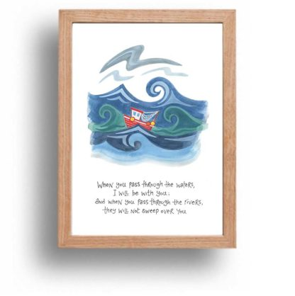 Hannah Dunnett I Will Be With You print wood frame