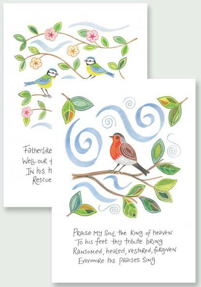 Hannah Dunnett Praise My Soul and He Gently Bears Us Notecards