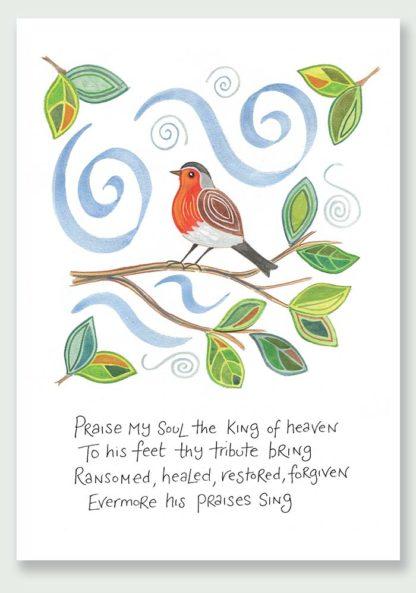 Hannah Dunnett Praise My Soul notecard and print