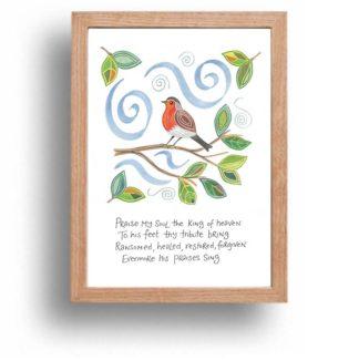Hannah Dunnett Praise My Soul print wood frame