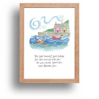 Hannah Dunnett The Lord Goes Before You print wood frame