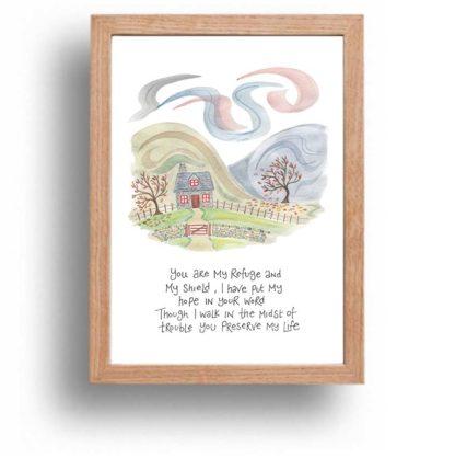 Hannah Dunnett You Are My Refuge print wood frame
