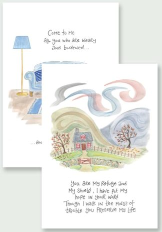 Hannah Dunnett You are My Refuge and I Will Give You Rest Notecards website image