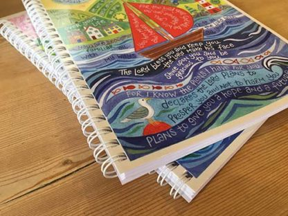 Hannah Dunnett Bless You and Keep You notebook ultra closeup image