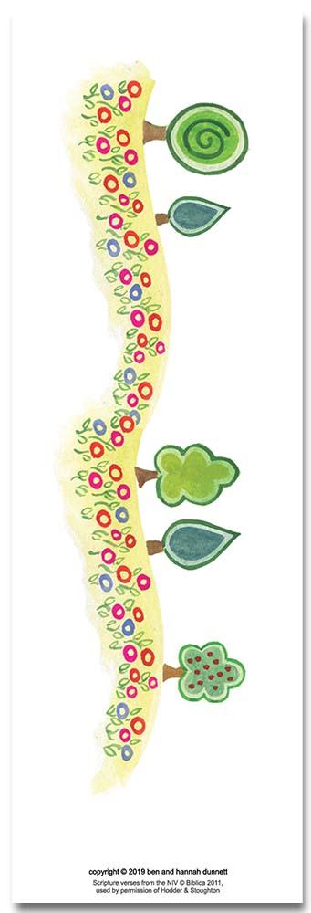 Hannah Dunnett Garment of Praise bookmark back image