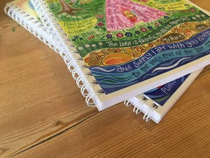 Hannah Dunnett He Will Rejoice Over You notebook ultra closeup image