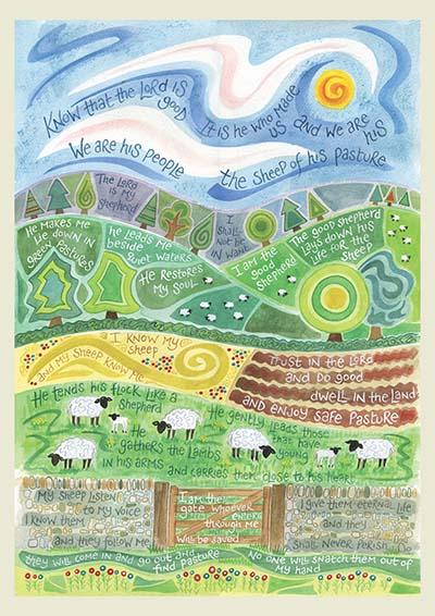 Hannah Dunnett The Good Shepherd notebook cover
