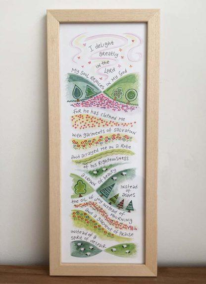 Hannah Dunnett Garment of Praise Slimline Print framed