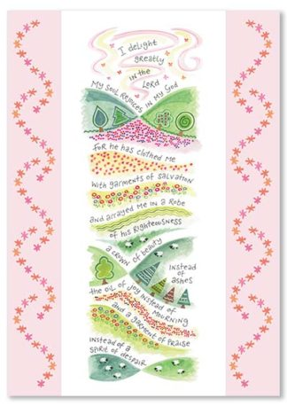 Hannah Dunnett Garment of Praise greetings card