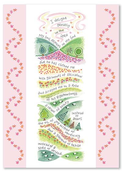 Hannah Dunnett Garment of Praise greetings card
