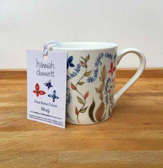 Hannah Dunnett He Delights in You China Mug