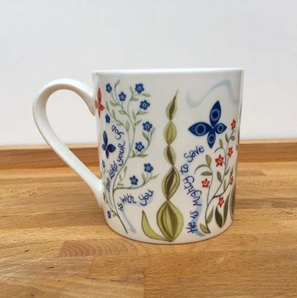 Hannah Dunnett He Delights in You China Mug close up back