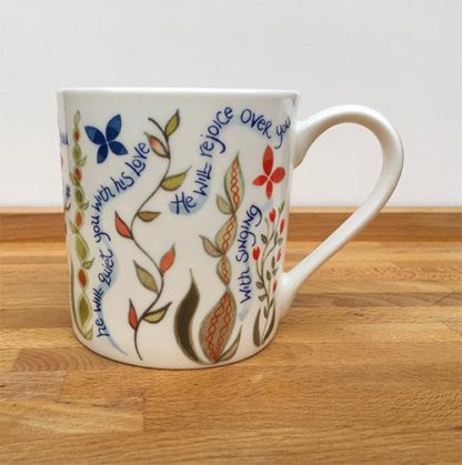 Hannah Dunnett He Delights in You China Mug close up front
