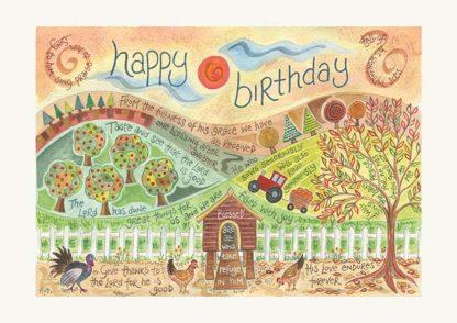 Hannah Dunnett Happy Birthday Card Farm Picture