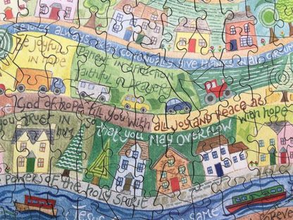 Hannah Dunnett He Cares For You Jigsaw centre close up image