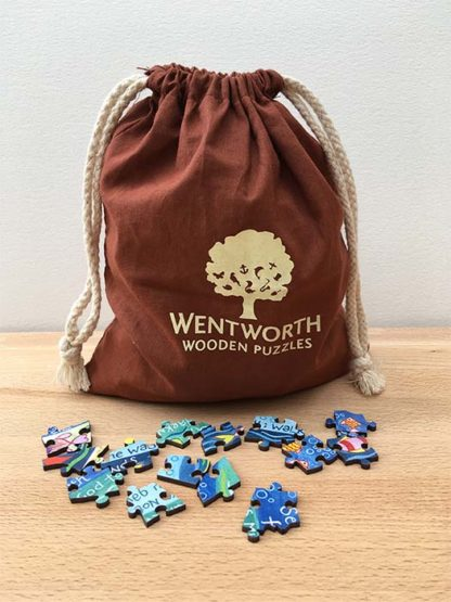 Hannah Dunnett He Will Guide You Jigsaw bag