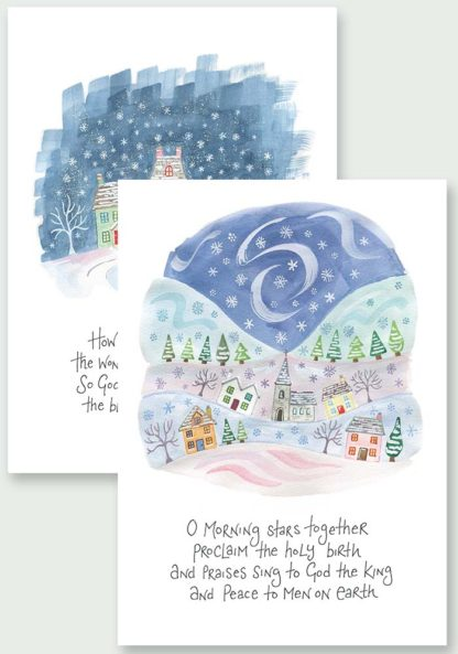Hannah Dunnett Proclaim The Holy Birth and The Wondrous Gift Christmas Cards