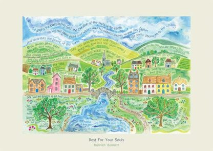 Hannah Dunnett Rest For Your Souls poster and greetings card